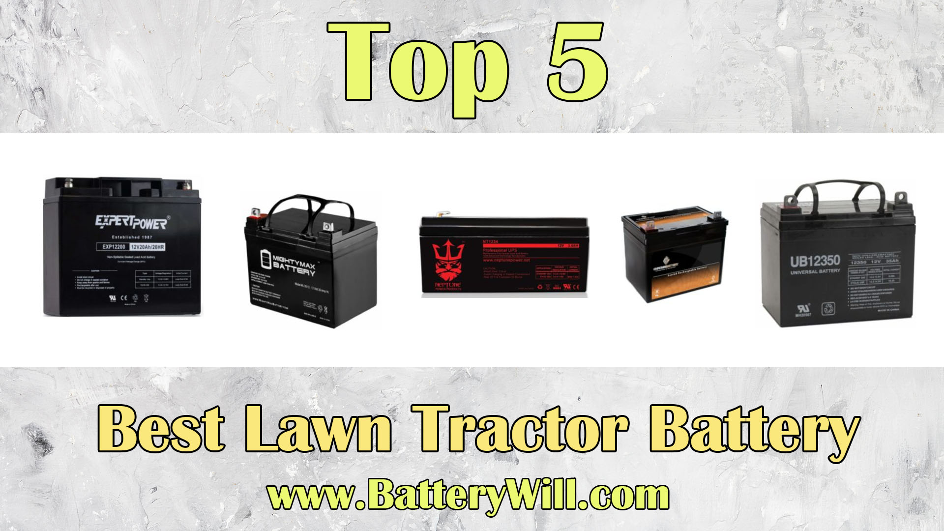 A Detailed Guide To Finding The Best Lawn Tractor Battery
